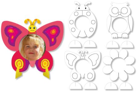 Cadres photo à colorier - Set de 16 - Support pré-dessiné – 10doigts.fr