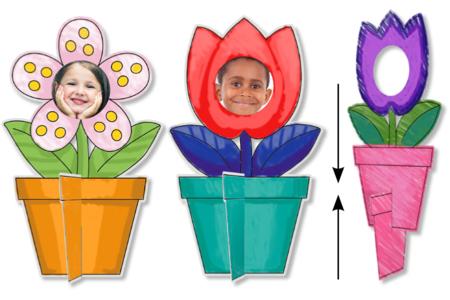 Cadres photo fleurs à colorier - 16 cadres - Support pré-dessiné – 10doigts.fr