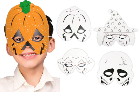 Masques à colorier Halloween - Set de 4 - Masques – 10doigts.fr