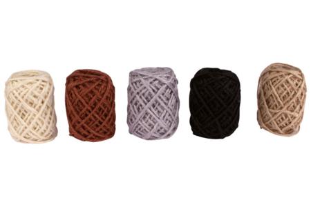 Bobines de jute naturelles - Set de 5 couleurs nature - Raphia et ficelles – 10doigts.fr