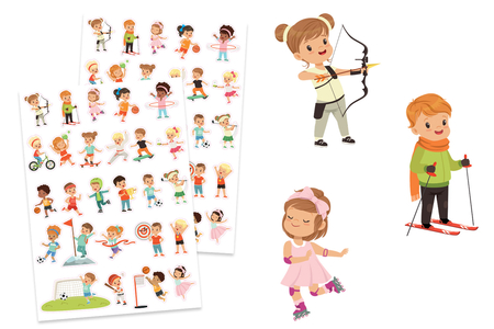 Gommettes enfants sportifs - 2 planches - Compétitions sportives – 10doigts.fr