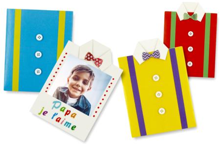 Carte chemise à fabriquer - Kits activités fête des pères – 10doigts.fr