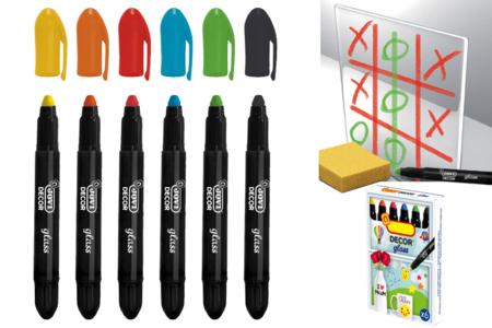 Crayons cire pour vitres et fenêtres - 4 ou 6 couleurs - Crayons cire – 10doigts.fr