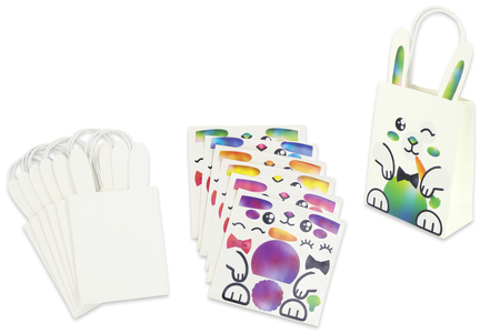 Sachets lapins + gommettes - 6 modèles - Kits activités Pâques – 10doigts.fr