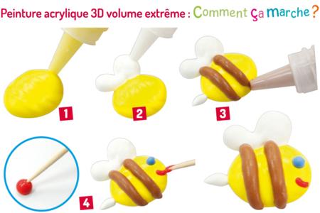 Stylos de peinture 3D volume extrême - 6 tubes 22 ml - Stylos peinture 3D – 10doigts.fr