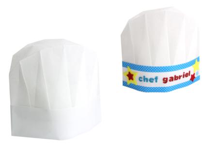 Toques de chef en non-tissé blanc - Taille enfant - Objets pour la cuisine – 10doigts.fr