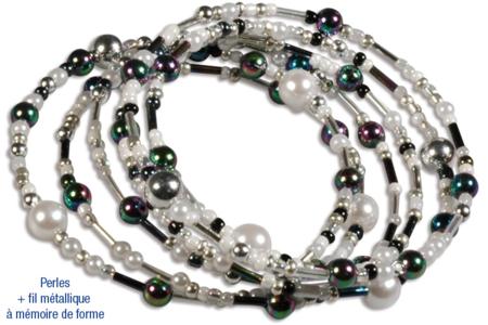 Rocailles en camaïeu argenté - 7000 perles - Perles de rocaille – 10doigts.fr