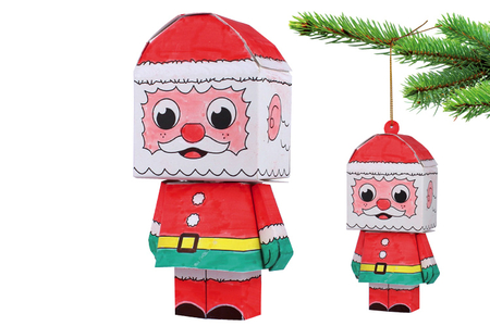 Paper toy Père Noël - Supports pré-dessinés – 10doigts.fr