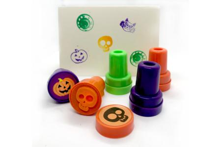 Tampons Halloween colorés - Set de 9 - Halloween – 10doigts.fr