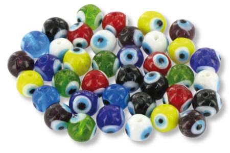 "Shamballas... avec des perles en verre ""Oeil de la chance"" - Bijoux Shamballas – 10doigts.fr"