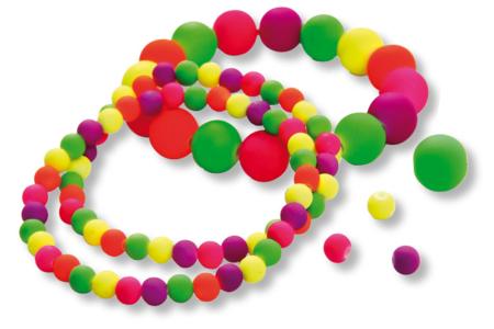 Shamballas... avec des perles fluos en acrylique  - Bijoux Shamballas – 10doigts.fr