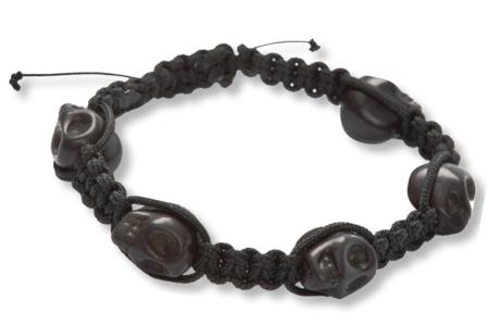"""Shamballas... avec des perles Têtes de mort """"Skull"""" - Bijoux Shamballas – 10doigts.fr"""