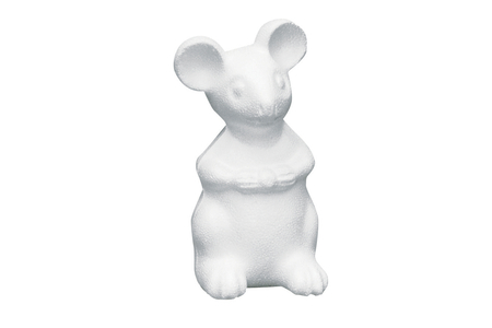 Souris en polystyrène 14 x 7 cm - Animaux – 10doigts.fr