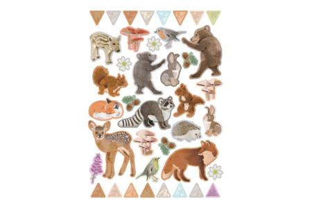Gommettes animaux de la forêt  - Gommettes Animaux – 10doigts.fr