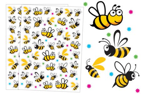 Gommettes abeilles - 80 gommettes - Gommettes Animaux – 10doigts.fr