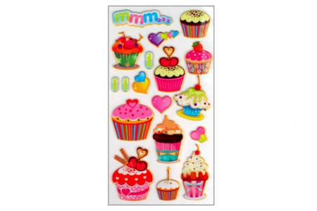 Stickers gâteaux 3D - 18 stickers - Décorations Anniversaire – 10doigts.fr