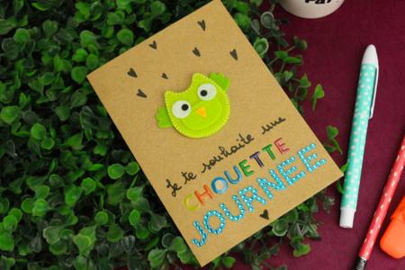 Stickers Hiboux en feutrine - Formes en Feutrine Autocollante – 10doigts.fr