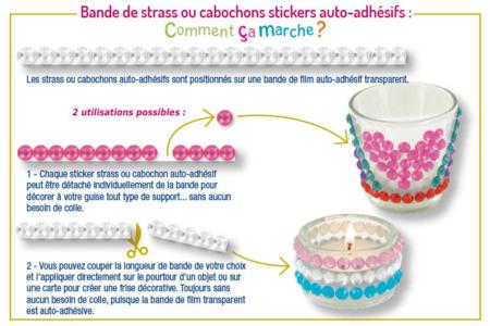 Bande de strass adhésifs fleurs - 225 pièces - Stickers strass, cabochons – 10doigts.fr