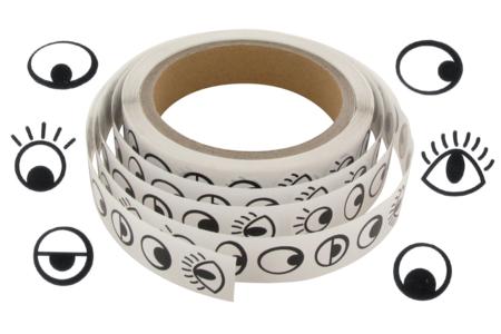 Gommettes yeux fantaisie noirs - 1000 Stickers - Gommettes Yeux et Visages – 10doigts.fr
