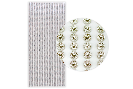 Stickers strass facettés argent - 1292 strass - Strass – 10doigts.fr