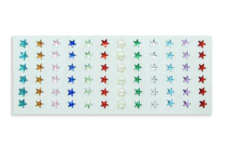 Minis strass étoiles adhésifs - 72 strass - Strass autocollants – 10doigts.fr