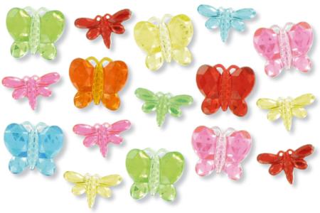 Strass papillons et libellules - 144 strass - Strass – 10doigts.fr