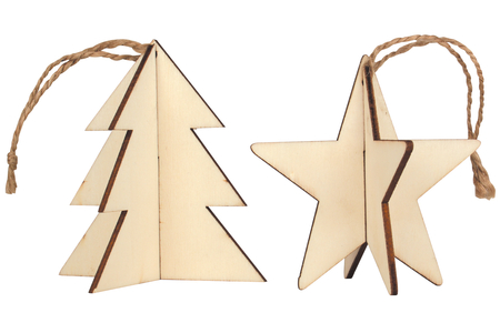 Sapin 3D ou étoile 3D à suspendre - Noël – 10doigts.fr