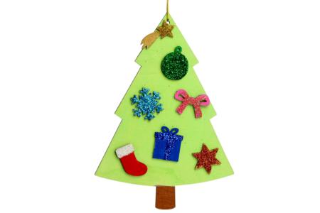 Sapins en bois à décorer - Lot de 6 - Noël – 10doigts.fr