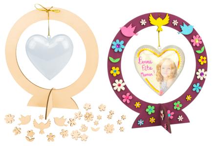 Suspensions coeurs - Lot de 10 - Kits activités fête des mères – 10doigts.fr