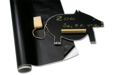 Feuille ou rouleau tableau auto-adhésif noir à craies - !! Vieux tutos à supprimer !! – 10doigts.fr