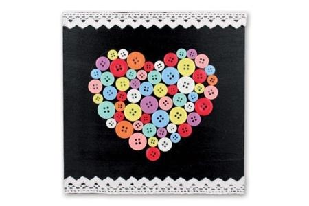 Boutons ronds en plastique - Environ 300 boutons - Boutons – 10doigts.fr
