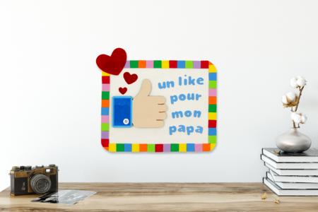 Tableau LIKE pour la fête des pères - Fête des Pères – 10doigts.fr