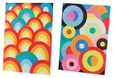 Tableaux sable Art Abstrait - 6 cartes assorties - Sable coloré – 10doigts.fr