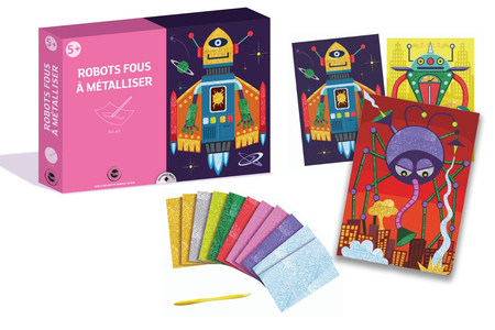 Coffret foil art - Thème Robot  - Coffret Foil Art – 10doigts.fr
