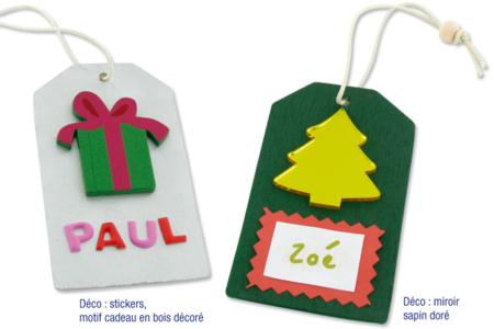 Étiquettes en bois avec cordon et perle - Lot de 6 - Marque-Places et Etiquettes – 10doigts.fr