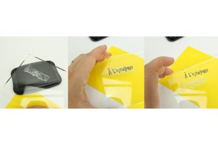 Bloc transparent pour tampons clear - Tampons transparents en silicone – 10doigts.fr