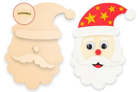 Grand Père Noël à accrocher - Décorations de Noël en bois – 10doigts.fr