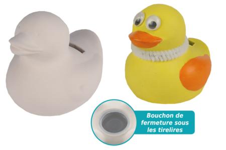 Tirelire canard en terre cuite blanche - Supports en Céramique et Porcelaine – 10doigts.fr