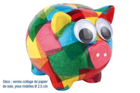 Atelier 10 tirelires cochon en céramique blanche - 10doigts.fr