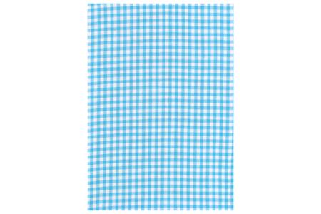 Tissu adhésif vichy bleu - Tissus adhésifs – 10doigts.fr