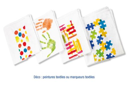 Torchons en coton blanc - Lot de 5 - Coton, lin – 10doigts.fr