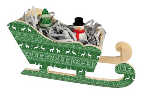 Grand traîneau en bois naturel - Décorations de Noël en bois – 10doigts.fr