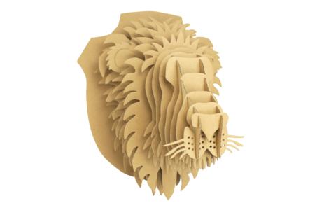 Trophée lion en carton à assembler - Objets décoratifs en carton – 10doigts.fr