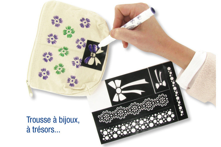 "Pochoirs adhésifs repositionnables ""Lézards"" - Pochoirs Adhésifs – 10doigts.fr"