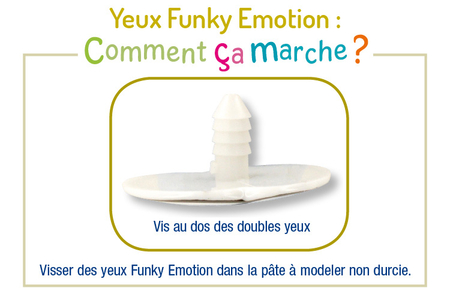 Yeux Funky Emotion - Set de 9 paires - Je découvre les émotions – 10doigts.fr