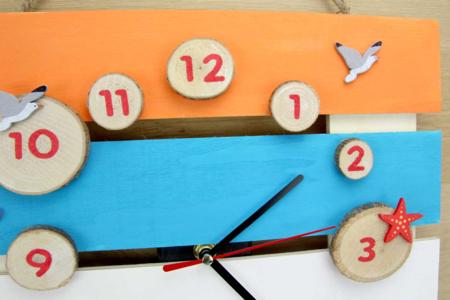 """Horloge """" Bord de mer """" - Apprendre à lire, écrire, compter – 10doigts.fr"""