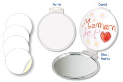 Miroir de sac à main - Miroirs à décorer – 10doigts.fr - 2