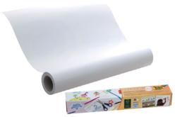 Rouleau de papier adhésif repositionnable blanc - 6 mètres - Support blanc – 10doigts.fr