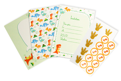 Kit invitations Dinosaure - 10 invitations d'anniversaire - Anniversaires – 10doigts.fr