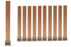 Mèches bougie en bois de pin - 10 mèches - Cires, gel  et bougies – 10doigts.fr